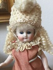 RARE Antique ALL Bisque German J.D Kestner Doll w/ Closed Mouth Fancy Boots