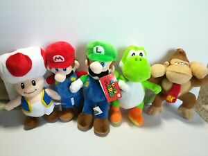 New-Super-Mario-Lot-of-5-Licensed-Plush-Stuffed-Toys