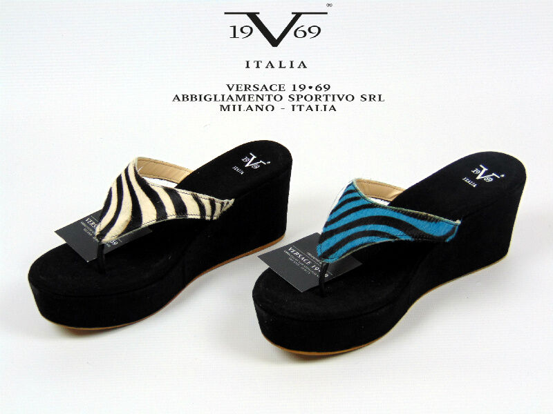 V1969 Demetra Flip Flop Wedge schuhe. Sandals.