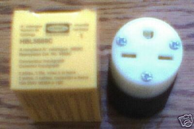 NEW HUBBELL HBL5669C 15 Amp 250 Volt  6-15R CONNECTOR