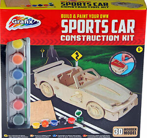 image is loading build and paint your own sports car wooden