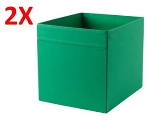 Image is loading 2x-IKEA-DRONA-Storage-Box-Basket-Cube-Toy-  sc 1 st  eBay & 2x IKEA DRONA Storage Box Basket Cube Toy Socks Organiser Green for ...