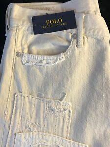 BNWT-Polo-Ralph-Lauren-Astor-Slim-B-DENIM-creme-Jeans-W28-x-L30-RRP-199-Cadeau