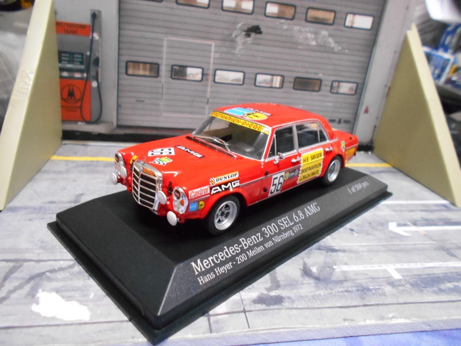 Mercedes Benz 300 SEL 6.8 AMG DRM Norisring 1972  56 Heyer MINICHAMPS 1 43