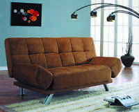 Click Clack Futon Sofa Bed With Adjustable Arms In Black/red/brown