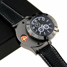 Men Multifunctional Watch Quartz Military Electronic USB Cigarette Lighter GIFT
