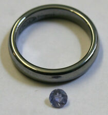 Azul Natural Tanzanite Piedra Suelta 4MM Redondo 0.3CT MI04 gema Facetada