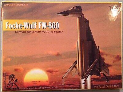Unicraft Models 1:72 Focke-Wulf FW-860 German Convertible VTOL Jet Fighter