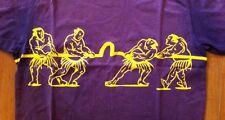 Mens EVISU Custom Made Short Sleeve Sumo Graphic TEE Purple