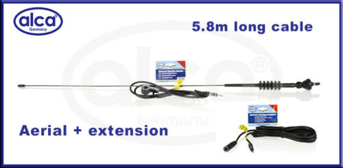 Car aerial with extension lead AM//FM 80cm long mast and 4.5 meter extension lead
