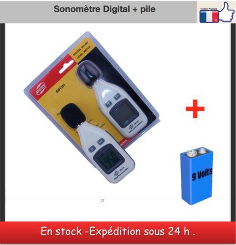 pile 9 volts digital sound level meter Sonometre digital Benetech GM 1351