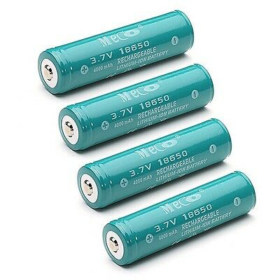 4 X800 18650 Li-ion Battery Torch flashlight 3.7v 4000mAh Protected Rechargeable