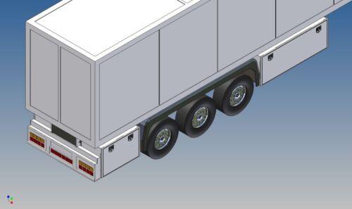 Hstkl 86-Rear Bumper for ever 8+6 Lego bricks to TAMIYA refrigerated trailers m1:14