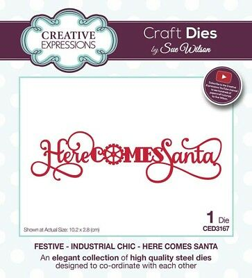 FESTIVE INDUSTRIAL CHIC COLLECTION SUE WILSON CHRISTMAS DIES NEW 2018