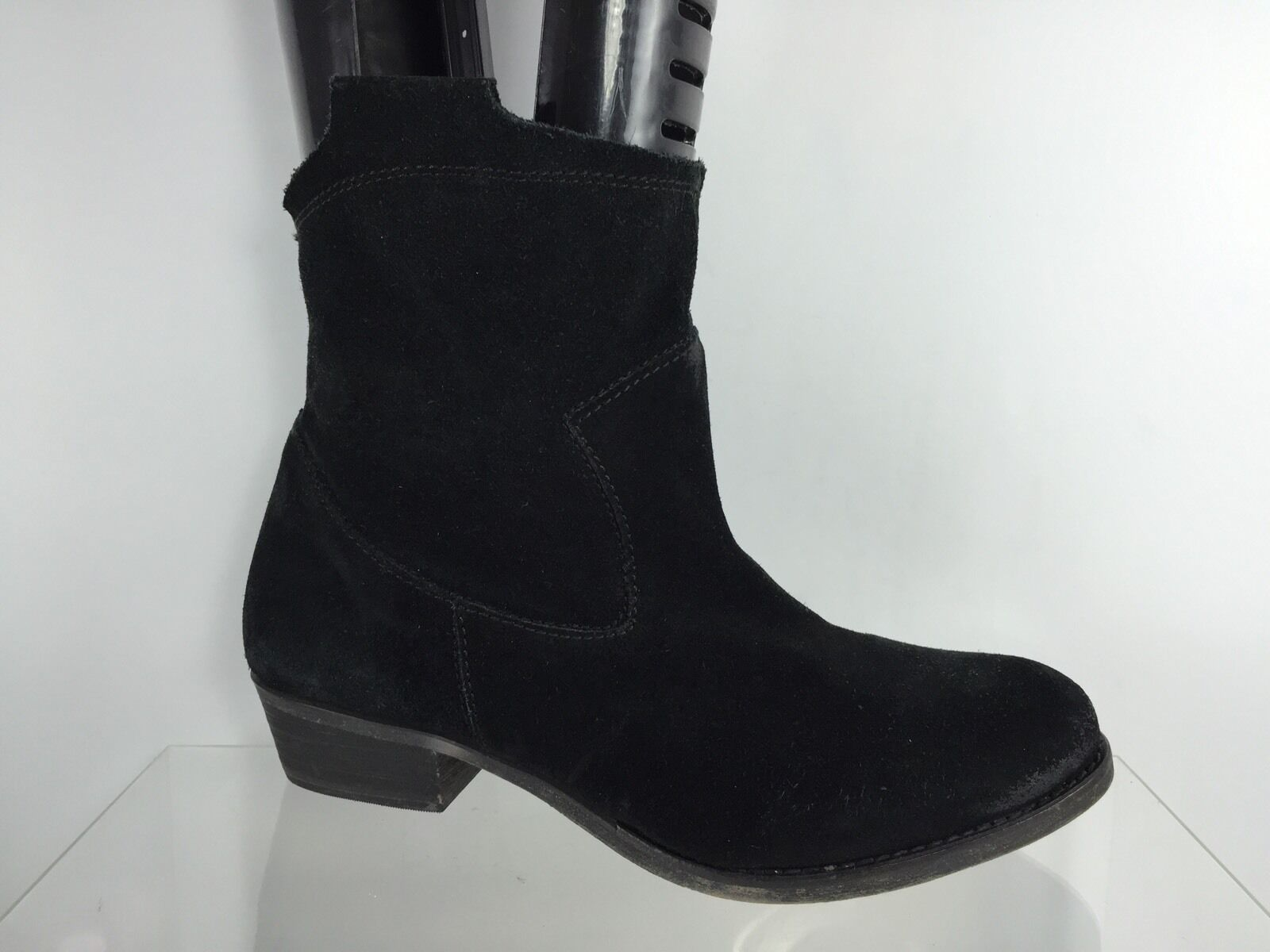14th & Union Womens Black Leather Ankle Boots 8.5