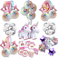 Rainbow-Unicorn-Balloons-Birthday-Party-Decorations-Princess-Girl-Foil-Numbers thumbnail 1
