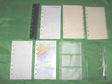 Personal Filofax Plannerrefill Lot Fill Set Page Finder Map Address Tabs