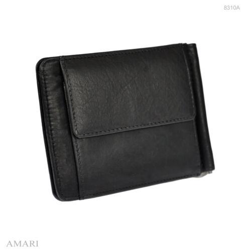 AMARI Dollarclip Münzfach Rindnappaleder Geldbörse Portemonnaie Geldspange 8310A