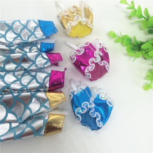 3pcs scintillante bambola di sirena vestiti accessori regalo ragazze misura 30