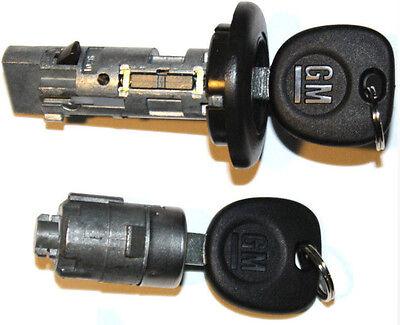 2 DOOR LOCK CYLINDER NEW GM OEM IGNITION SWITCH LOCK CYLINDER 2 LOGO KEYS