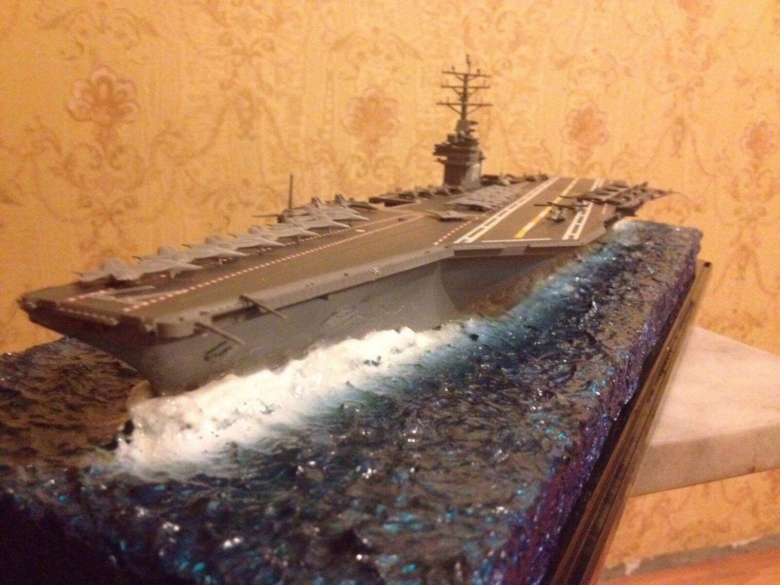 Nimitz carrier class model  1 700 with diorama