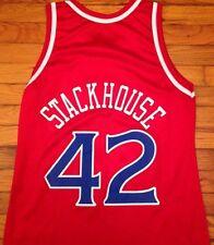 Vintage Jerry Stackhouse Jersey 90s Philadelphia 76ers Old Logo Champion RARE