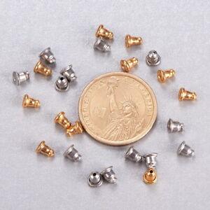 1 Box 100pcs 304 Stainless Steel Earnuts Earring Backs Stoppers Earring Findings