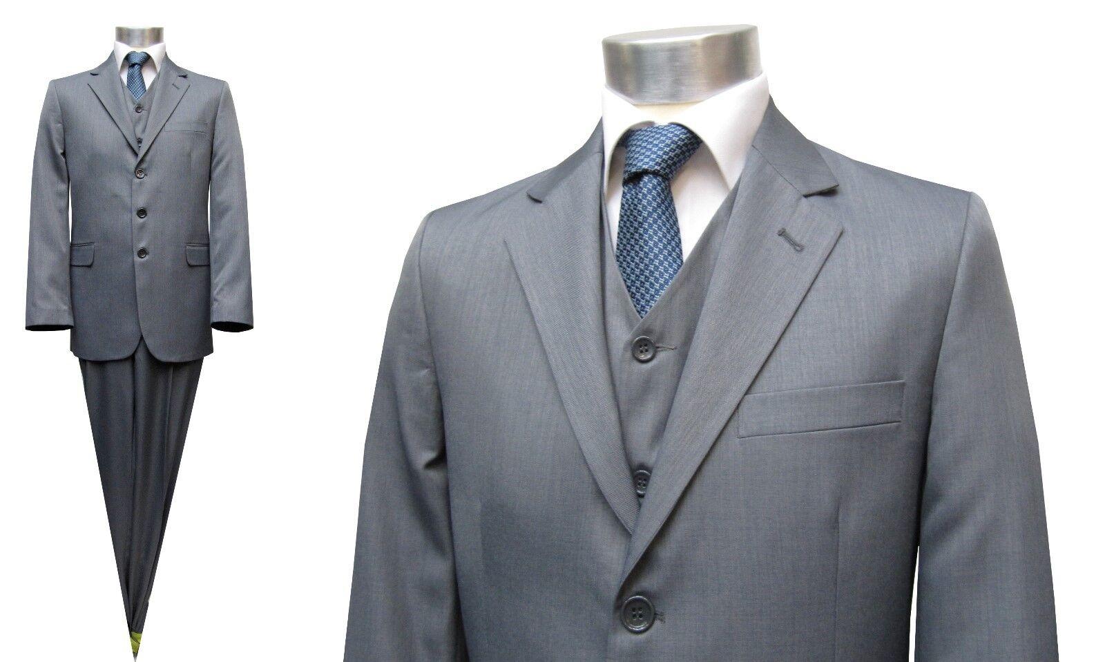 Herren Anzug 3-teilig Muga Gr.70 Grau