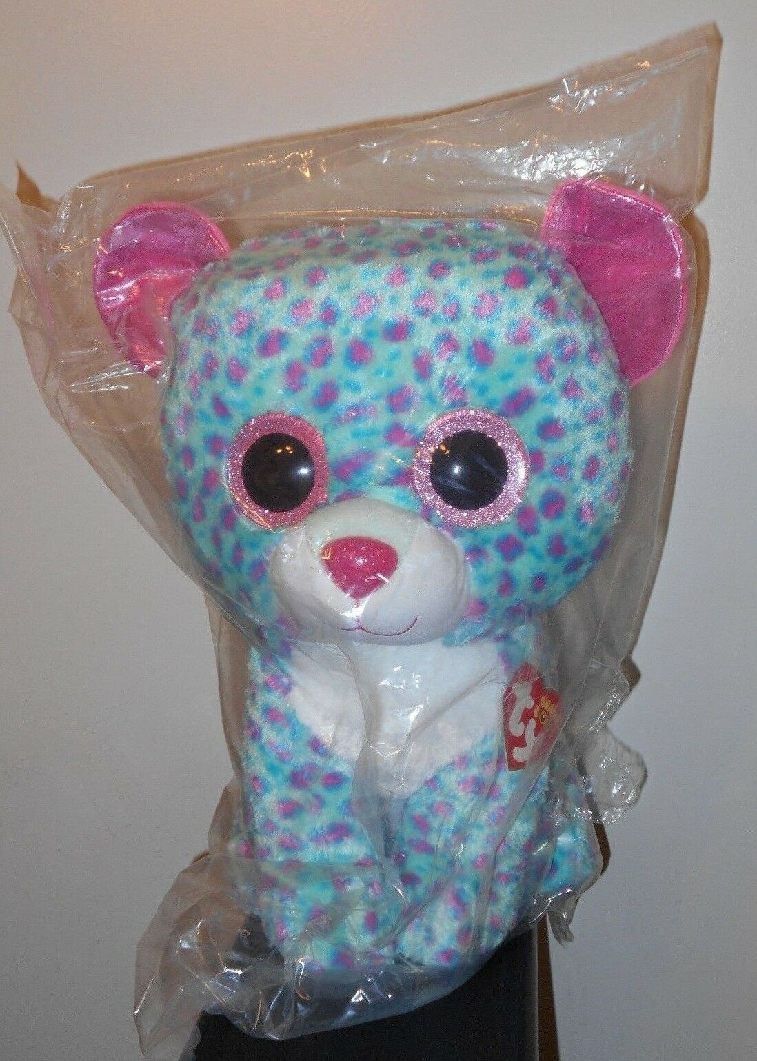 Ty 17-18  JUMBO Beanie Boos  SYDNEY the Leopard (Claires Exclusive) NEW MWMTS