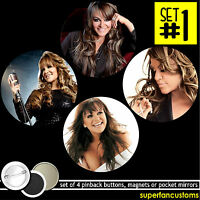 Jenni Rivera Set Of 4 Buttons Or Magnets Or Mirrors Pinback Badges 1230