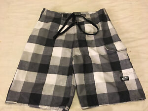 7dbf42a0323d9 Mens Clean Gray Plaid Sz 30 Vans Off The Wall Board Shorts Swim Suit ...