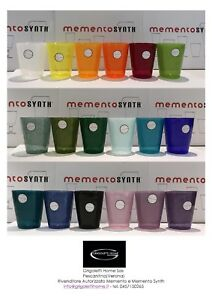 Memento-Synth-Glass-Plastica-Bicchieri-Vari-Colori-h-cm-10-Rivenditore