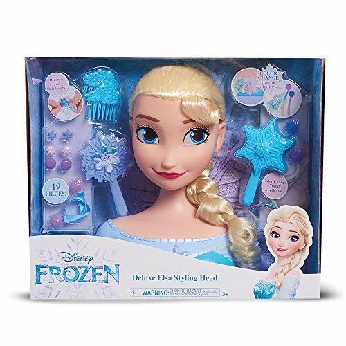 FRN79000 Multicolore Frozen Deluxe Elsa Styling Head Grandi Giochi