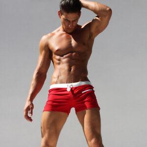 Men-s-Swimwear-Surf-Board-Beach-Swim-Brief-Trunks-Shorts-Swimsuits-with-Pockets