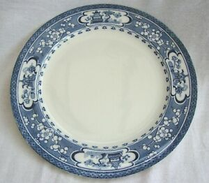 A-VINTAGE-BLUE-amp-WHITE-MALING-NEWCASTLE-ORIENTAL-CHINESE-PATTERN-DINNER-PLATE