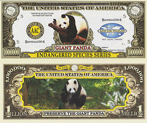RARE-Giant-Panda-Endang-Species-1-000-000-Novelty-Note-Buy-5-Get-one-FREE