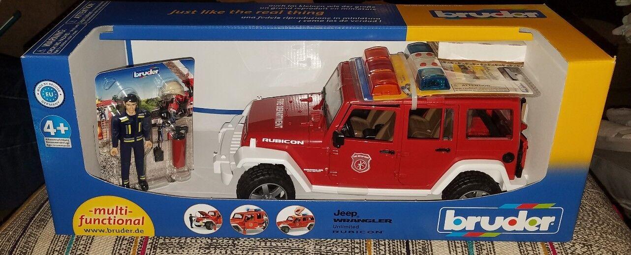 punti vendita BRUDER BRUDER BRUDER  02528 Jeep Wrangler Rubicon  Fire Vehicle  2528  fino al 70% di sconto
