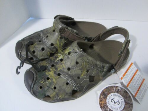 CROCS SWIFTWATER REALTREE XTRA CAMO CLOGS UNISEX ADULT MENS Sz 7 8 Shoes NWT