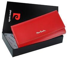 Women's red wallet - original Pierre Cardin + genuine Italian Leather