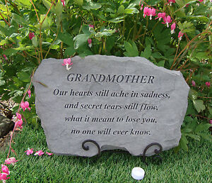 Grandmother Grandma Memorial Garden Stone Plaque Grave Marker Ornament 5034913015351 Ebay