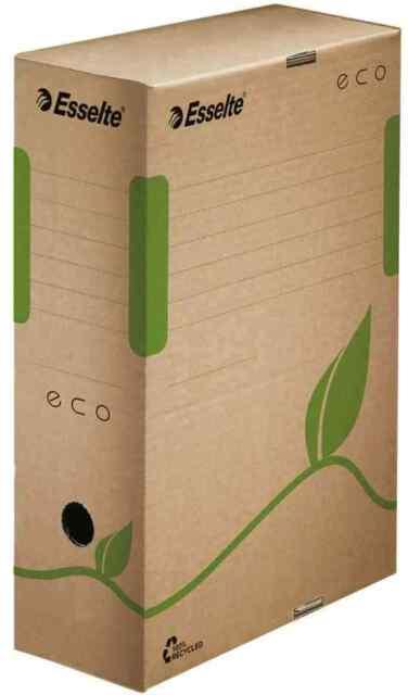 [Ref:623917] ESSELTE Lot de 25 Boîtes d'archive ECO pour A4 marron dos 100 mm