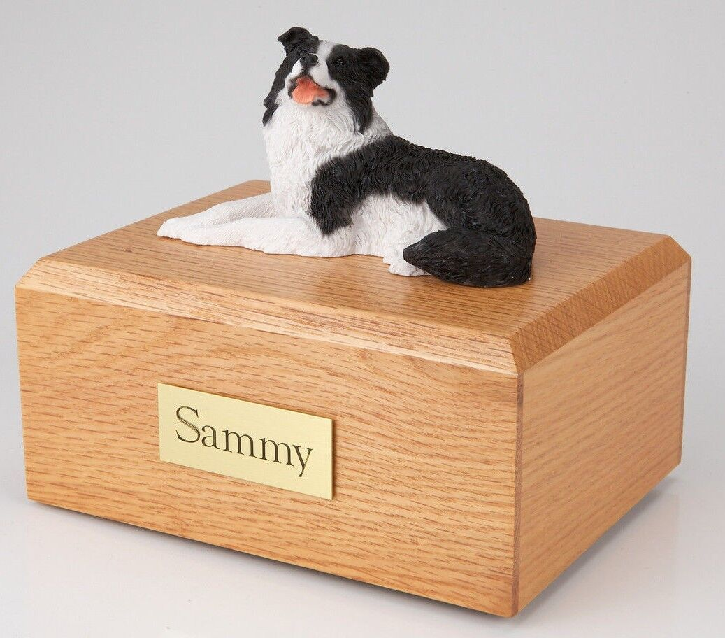 acquista online oggi Border Collie Lying Pet Funeral Cremation Cremation Cremation Urn Avail in 3 Diff Colores & 4 Dimensiones  fino al 42% di sconto