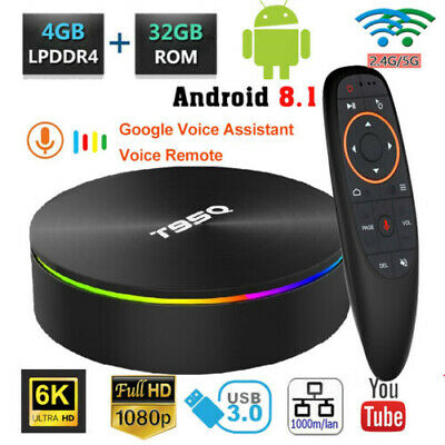 AI ONE Android 8.1 TV Box 4GB+32GB WiFi 4K Quad Core 2.4G Voice Control+Keyboard