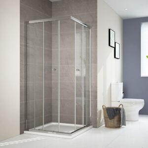 Dusche 90x90.Details Zu Duschwand 90x75 80x100 90x90 Schiebetür Dusche Duschkabine Eckeinstieg Echtglas