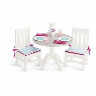 Tremendous American Girl Doll Dining Table And Chairs With Dishes Pitcher Dinnerware New Ebay Machost Co Dining Chair Design Ideas Machostcouk