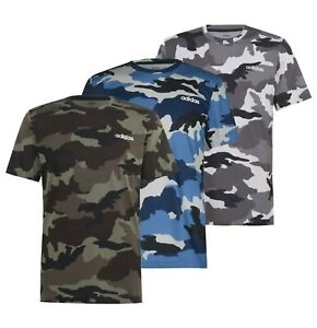 Mens Adidas Regular Crew Short Sleeves Top AOP Camo T Shirt Sizes from S to XXL