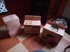 Vintage Metal Wolverine 3 Piece Pink Kitchen Toy Set