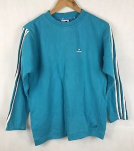low priced shades of best shoes Details about VINTAGE ADIDAS SWEATSHIRT SIZE 8 90s SWEATER JUMPER RETRO  BLUE COTTON SPELL OUT