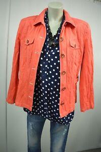 GERRY WEBER Damen Frühling Sommer Jacke Gr. 42 Rot 95% ...