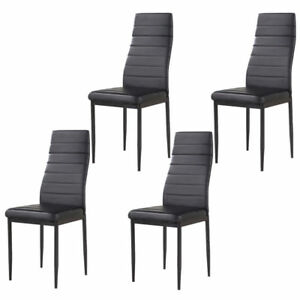 Image Is Loading Modern Set Of 4 Stunning Dining Side Chairs